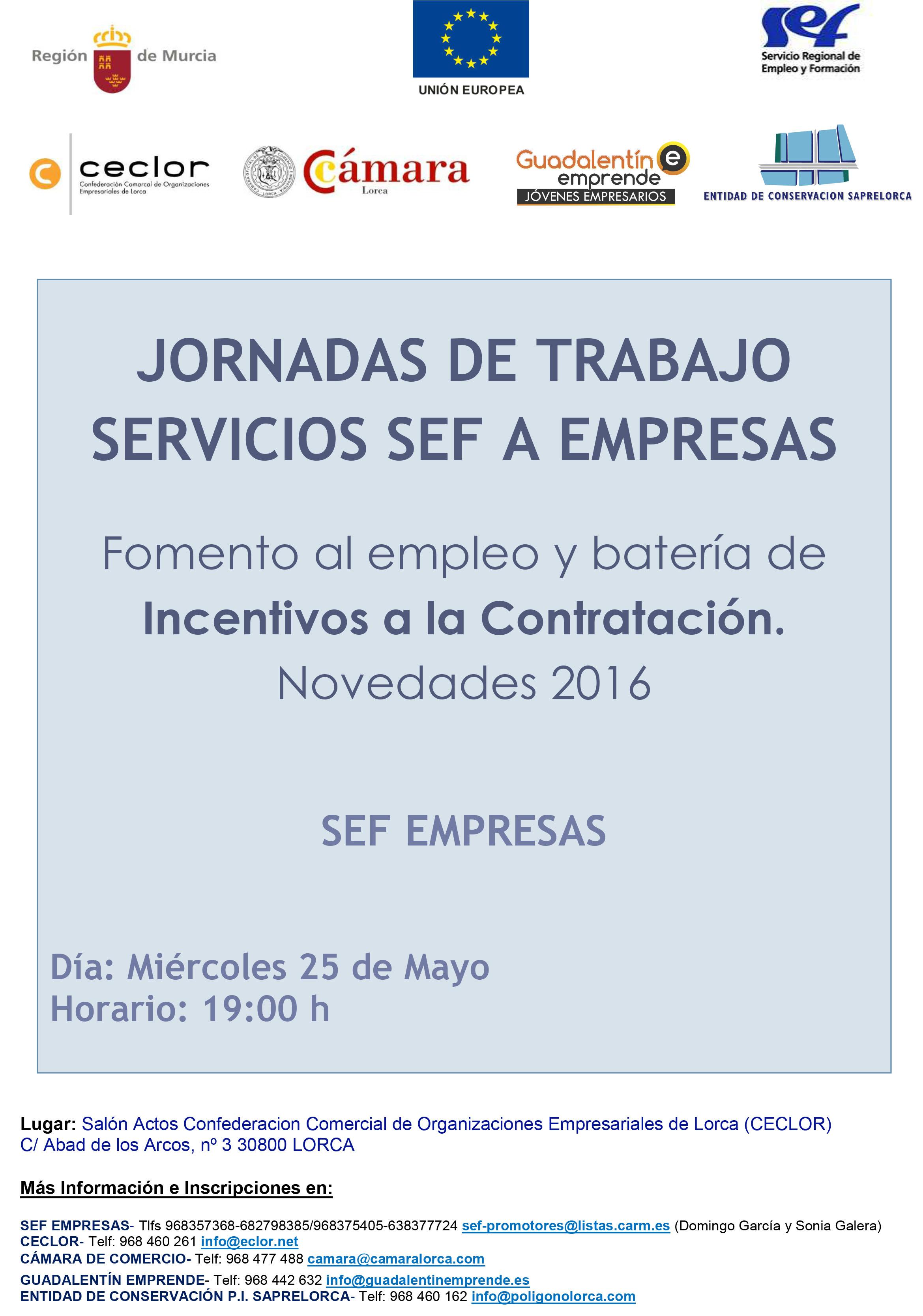 Jornada Fomento empleo e Incentivos contratación